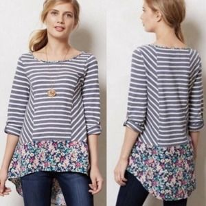 Anthropologie Postmark Top Size XS Fairly Stripe